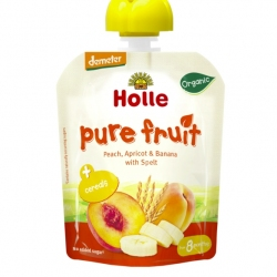 PEACH, APRICOT, BANANA with SPELT Baby Food Pouch, Organic
