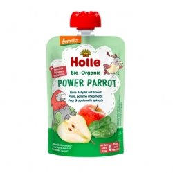 Power Parrot - PEAR & APPLE with SPINACH Baby Food Pouch, Organic
