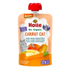 Carrot Cat - CARROT, MANGO, BANANA & PEAR Baby Food Pouch, Organic