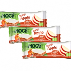 APPLE BAR, Organic, MOGLi (pack of 3)