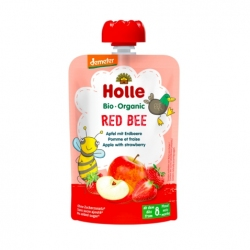 Red Bee - APPLE with STRAWBERRY Baby Food Pouch, Organic