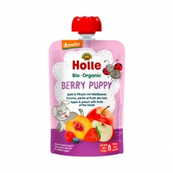 Berry Puppy - APPLE, PEACH with FRUITS OF THE FOREST Baby Food Pouch, Organic