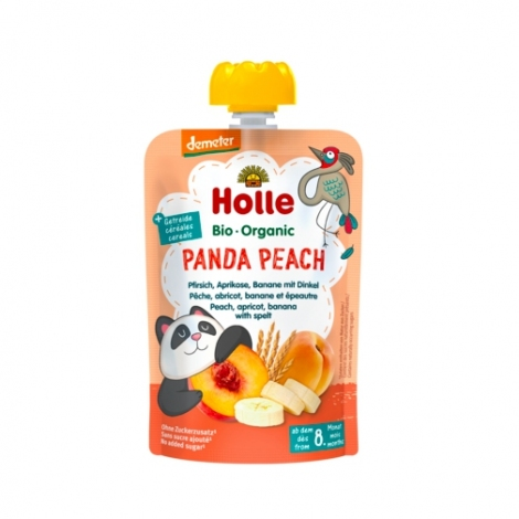Panda Peach - PEACH, APRICOT, BANANA with SPELT Baby Food Pouch, Organic